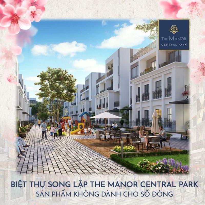 Biet thu song lap The Manor Central Park e1605197328580 - Tổng quan về dự án biệt thự The Manor Central Park